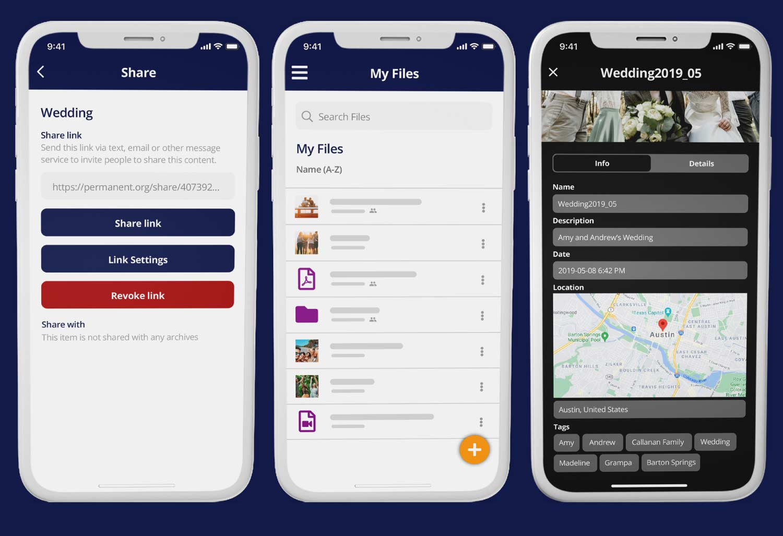 Permanent ios app screenshots
